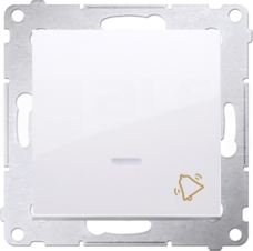 SIMON54 10AX biały Przycisk dzwonek podświetlany LED