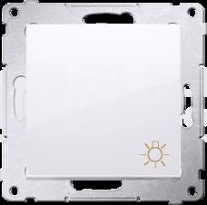 SIMON54 10AX biały Przycisk światło
