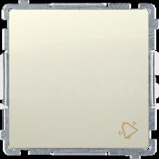 BASIC/M beżowy Przycisk zwierny dzwonek