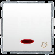 BASIC/M biały Przycisk zwierny dzwonek podświetlany