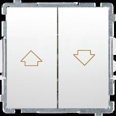 BASIC/M biały Przycisk żaluzjowy