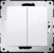 SIMON54 10AX biały Przycisk zwierny podwójny
