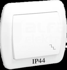 AKORD IP44 biały Łącznik schodowy pojedynczy