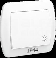 AKORD IP44 biały Przycisk światło