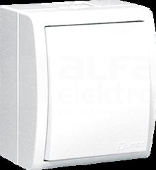 AQUARIUS IP54 biały Łącznik jednobiegunowy