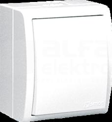 AQUARIUS IP54 biały Łącznik jednobiegunowy podświetlany