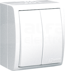 AQUARIUS IP54 biały Łącznik świecznikowy