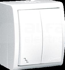 AQUARIUS IP54 biały Łącznik schodowy podwójny