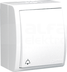 AQUARIUS IP54 biały Przycisk dzwonek