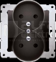 SIMON54 2x2P+Z 16A antracyt Gniazdo z przesłonami styków zaciski śrubowe