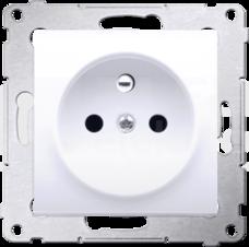 SIMON54 2P+Z 16A biały Gniazdo z przesłonami styków zaciski śrubowe