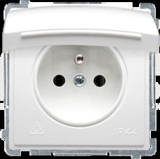 BASIC/M 2P+Z IP44 biały Gniazdo
