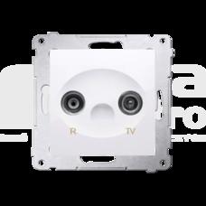 SIMON54 biały Gniazdo RTV końcowe