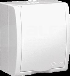 AQUARIUS 2P+Z IP54 biały Gniazdo klapka biała