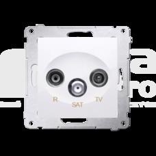 SIMON54 biały Gniazdo RTV-SAT