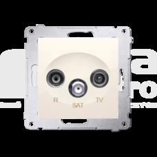 SIMON54 kremowy Gniazdo RTV-SAT
