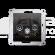 SIMON54 antracyt Gniazdo RTV-SAT