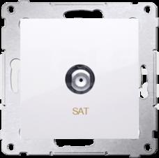 SIMON54 biały Gniazdo SAT