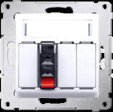 SIMON54 1x2,5mm2 biały Gniazdo głośnikowe