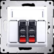 SIMON54 2x2,5mm2 biały Gniazdo głośnikowe