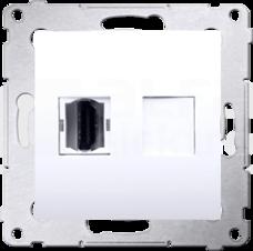 SIMON54 biały Gniazdo HDMI