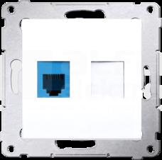 SIMON54 1xRJ12 biały Gniazdo telefoniczne