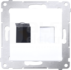 SIMON54 1xRJ45 kat.6 biały Gniazdo komputerowe