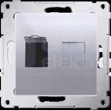 SIMON54 1xRJ45 kat.6 srebrny mat Gniazdo komputerowe