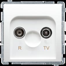 BASIC/M biały Gniazdo antenowe RTV końcowe