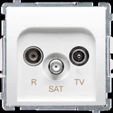 BASIC/M biały Gniazdo antenowe RTV-SAT końcowe