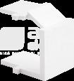CLASSIC biały Zaślepka do gniazda komputerowego