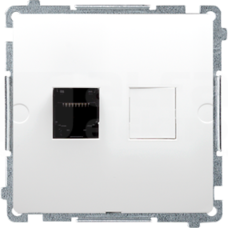 BASIC/M 1xRJ45 kat5e biały Gniazdo komputerowe