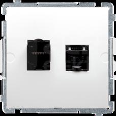 BASIC/M 2xRJ45 kat6 biały Gniazdo komputerowe