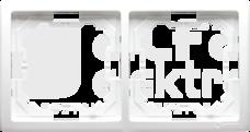 BASIC/M biały Ramka podwójna