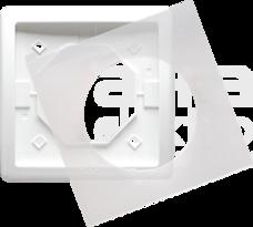 BASIC/M IP44 biały Ramka pojedyncza
