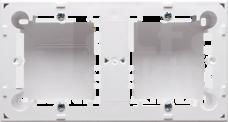 CLASSIC biały Puszka natynkowa podwójna
