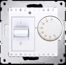 SIMON54 16(2)A biały Regulator temperatury z czujnikiem wewn