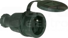 TAURUS 16A 2P+Z 250V IP44 Gniazdo gumowe z zatyczką