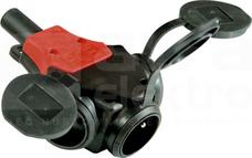 TAURUS 16A 3x2P+Z 250V IP44 Rozdzielacz gniazdowy gumowy