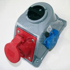 COMBO 16A 5P+GS 400V 0-1 IP44 Gniazdo z wyłącznikiem