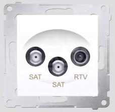 SIMON54 biały Gniazdo SAT-SAT-RTV