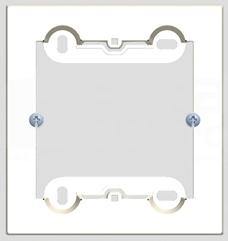 SIMON54 biały Puszka natynkowa pojedyncza płytka