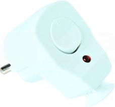 10/16A 2P+Z UNI-SCHUKO biały Wtyczka kątowa z wyłącznikiem i diodą