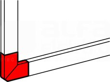 DLP-N 50x105 biały Kąt płaski
