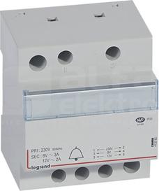 TR 323 230V/12/8V 24VA Transformator dzwonkowy