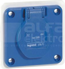 16A 2P+Z 230V IP44 Gniazdo tablicowe
