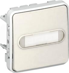 PLEXO55 IP55 biały Mechanizm przycisku jednobiegunowy podświetlany