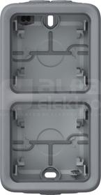 PLEXO55 3-wejścia membr.IP55 szary Puszka podwójna pionowa