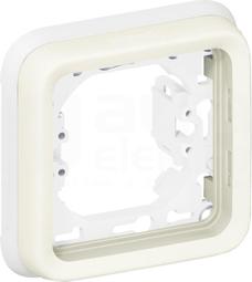 PLEXO55 IP55 biały Uchwyt pojedynczy poziomy