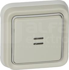PLEXO55 IP55 biały Przycisk podświetlany